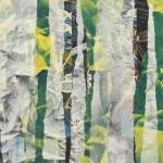 Christophe Streichenberger Art Jingle White Catching Yellow 100x81 cm 2018 encadrement détail1
