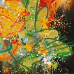 NEBAY-Art-Jingle- Celui Qui Accepte 100 x 100 cm 2019 détail1