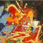 NEBAY-Art-Jingle- Celui Qui Accepte 100 x 100 cm 2019 détail2