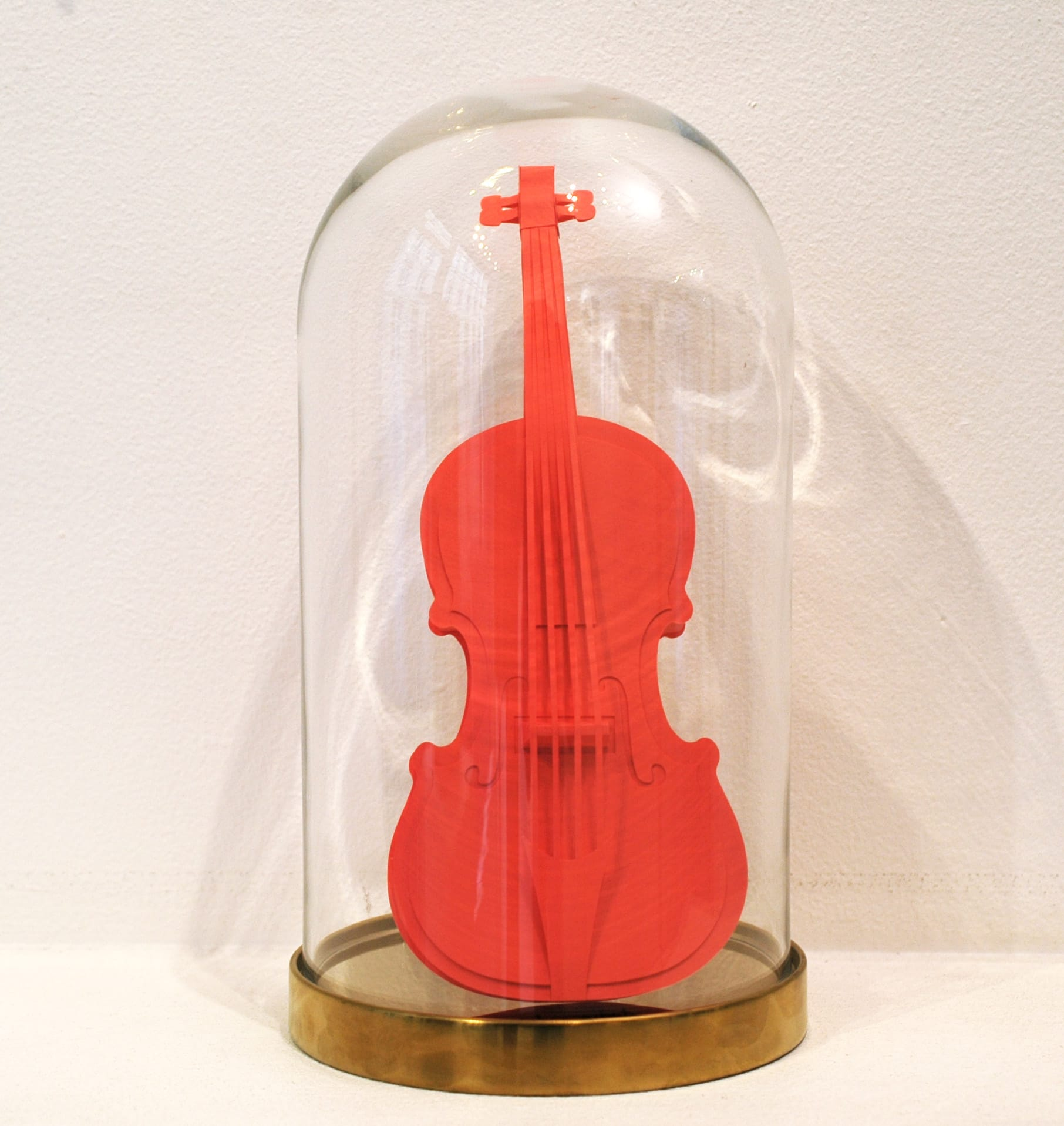 Galerie Art Jingle Maud Vantours Violon Saumon 25 x 9.5 cm