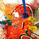 Galerie Art Jingle NEBAY Il Y A Plus de Richesse 120 x 120cm Détail 2