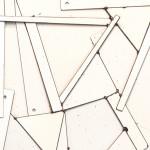 Galerie Art Jingle COSTA Blanche Détail 2 90 x 90 cm 2020