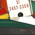 Galerie Art Jingle COSTA Le Touriste Détail 2 60 x 60 cm 2020