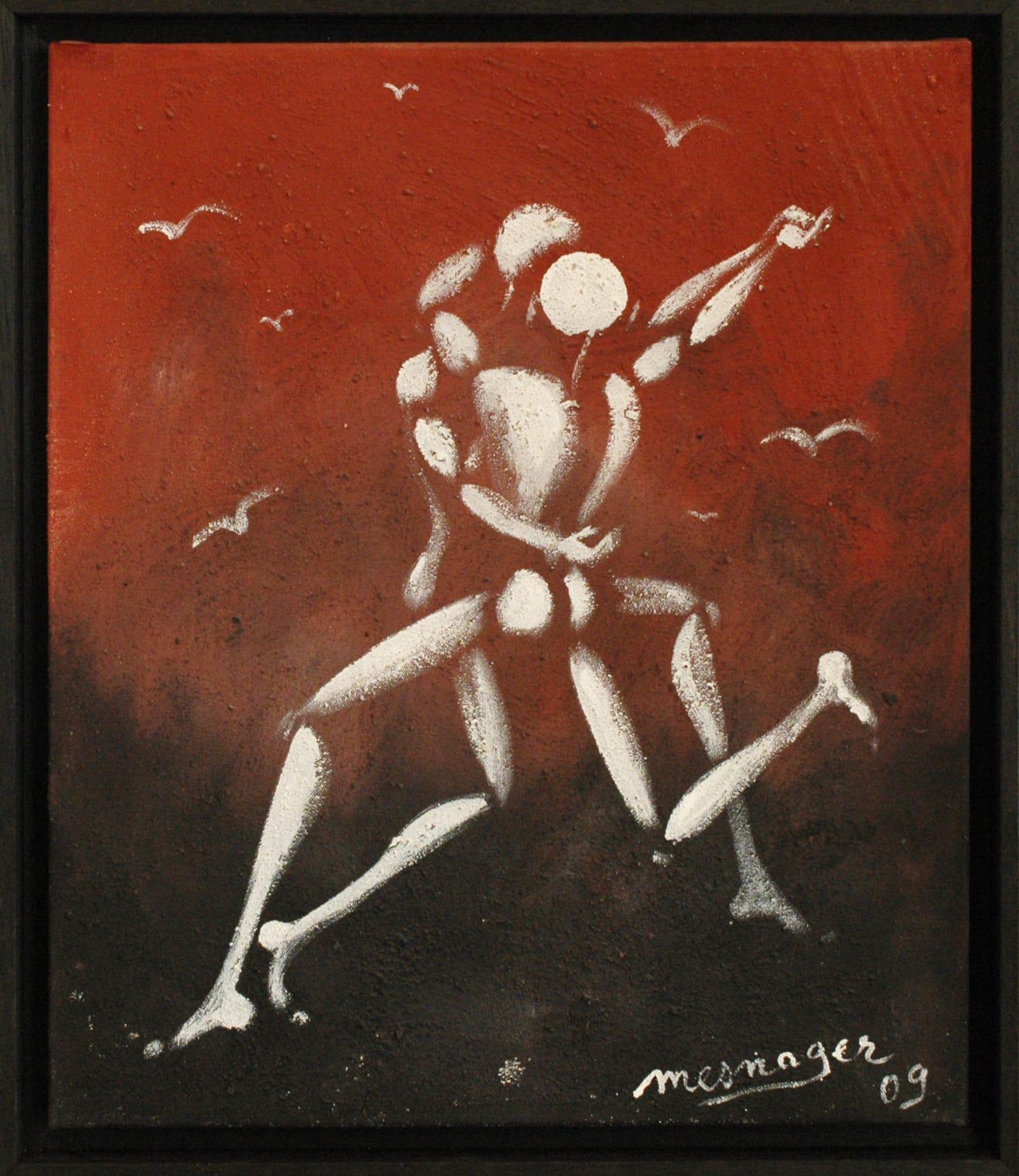 Galerie Art Jingle Mesnager Danse Ardente 55 x 46 cm 2009