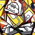 Galerie Art Jingle COSTA Bibendum 110x110cm 2020 Détail 1