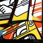 Galerie Art Jingle COSTA Bibendum 110x110cm 2020 Détail 2