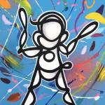 Galerie Art Jingle PSYCKOZE Baby Blue 33x41cm 2020 Détail 1