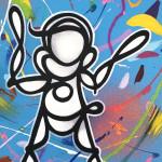 Galerie Art Jingle PSYCKOZE Baby Blue 33x41cm 2020 Détail 2