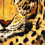 Galerie Art Jingle MOSKO Panthère Portrait Naturel 40x34cm Détail 1