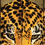 Galerie Art Jingle MOSKO Panthère Portrait Naturel 40x34cm Détail 2