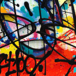 Galerie Art Jingle NEBAY Bloody Summer 73x92cm 2020 Détail 2