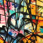 Galerie Art Jingle NEBAY Colorfull Fight 89x116cm 2020 Détail 1