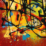 Galerie Art Jingle NEBAY Colorfull Fight 89x116cm 2020 Détail 2