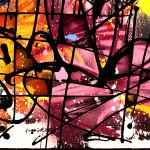 Galerie Art Jingle NEBAY Dark Délice 100x100cm 2020 Détail 1