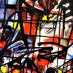 Galerie Art Jingle NEBAY Dark Délice 100x100cm 2020 Détail 2