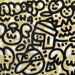 Galerie Art JIngle CHANOIR Gatos Del Sol 100x81 cm 2020 Deatil 2-min
