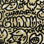 Galerie Art JIngle CHANOIR Gatos Del Sol 100x81 cm 2020 Detail 1-min