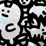 Galerie Art Jingle CHANOIR Angel Cats 100x100cm 2020 Détail 1