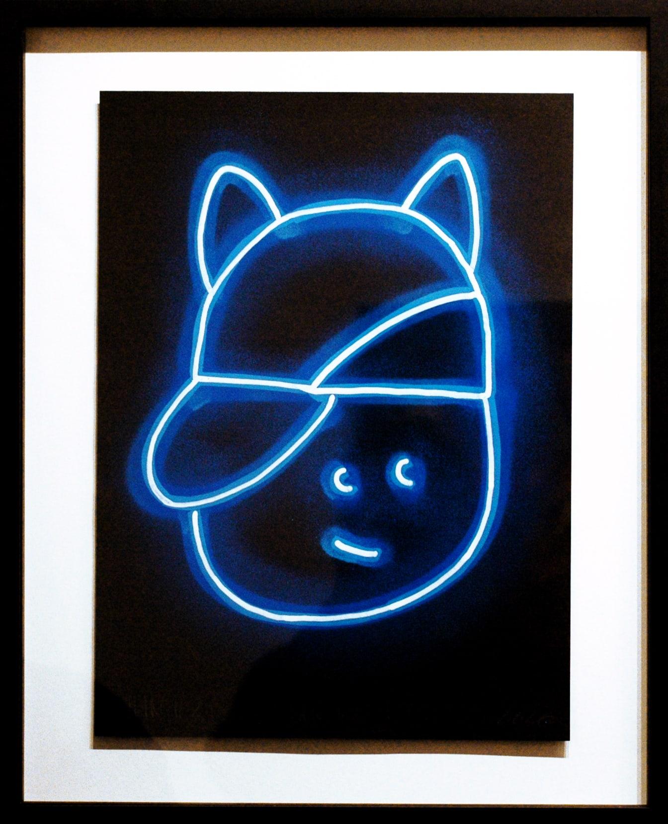 Galerie Art Jingle CHANOIR Blue Moon Cat 2020 Encadrement