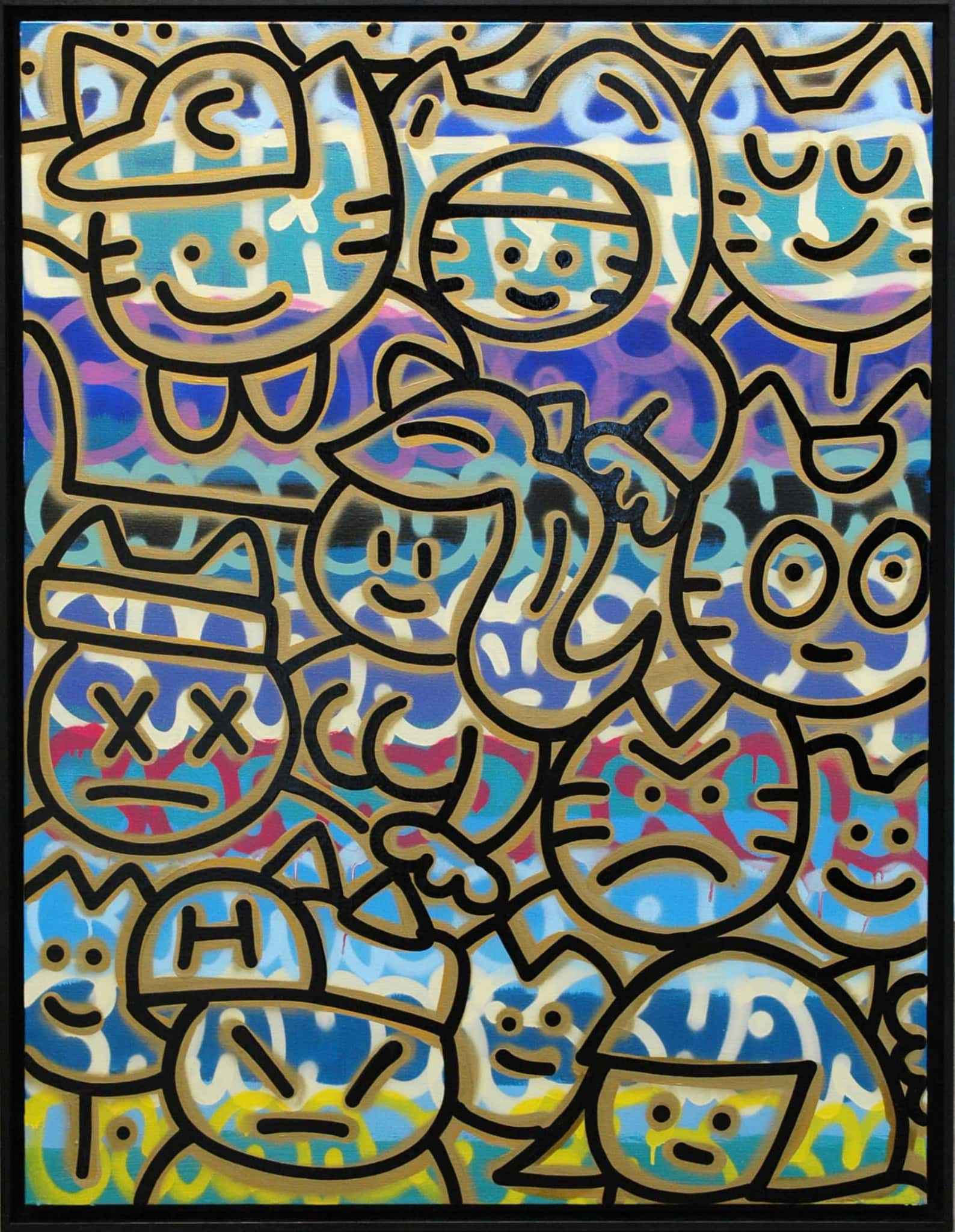 Galerie Art Jingle CHANOIR Chas Avec Un Coeur En Or 116x89 cm 2020-min