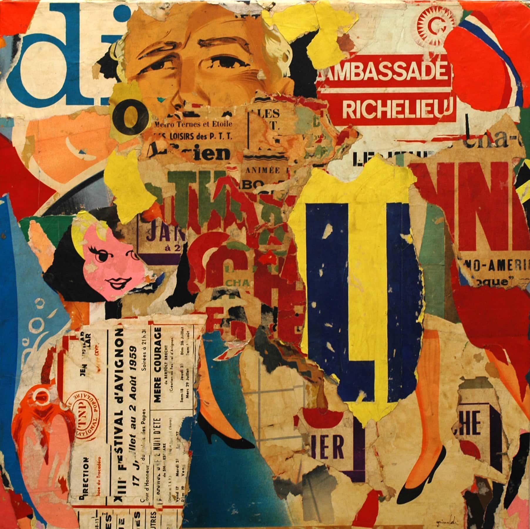 Galerie Art Jingle Pierre-François GRIMALDI Le Festival D'Avignon 80 x 80 cm