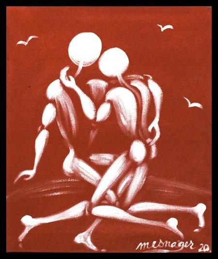 Galerie Art Jingle Jerome MESNAGER La Tendresse 55x46cm 146 de 2020 Encadrement