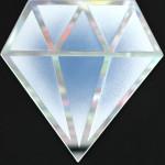 Galerie Art Jingle Le Diamantaire Dégradé Blanc Violet 40 x 40 cm Détail 1 2021