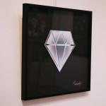 Galerie Art Jingle Le Diamantaire Dégradé Blanc Violet 40 x 40 cm Encadrement Mur 2021