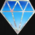 Galerie Art Jingle Le Diamantaire Dégradé Bleu 40 x 40 cm Détail 1 2021