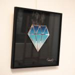 Galerie Art Jingle Le Diamantaire Dégradé Bleu 40 x 40 cm Encadrement Mur 2021