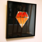 Galerie Art Jingle Le Diamantaire Dégradé Orange 40 x 40 cm Encadrement Mur 2021