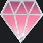 Galerie Art Jingle Le Diamantaire Rose Et Blanc 40 x 40 cm Détail 2 2021