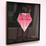 Galerie Art Jingle Le Diamantaire Rose Et Blanc 40 x 40 cm Encadrement Mur 2021
