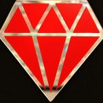 Galerie Art Jingle Le Diamantaire Rouge 40 x 40 cm Détail 1 2021