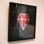 Galerie Art Jingle Le Diamantaire Rouge 40 x 40 cm Encadrement Mur 2021