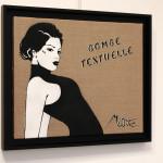 Galerie Art Jingle MISS.TIC Bombe Textuelle 46 cm x 38 cm x 2.5 cm 2020 Encadrement Mur