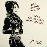 Galerie Art Jingle MISS.TIC Mon Coeur Penche Vers Les Classes Dangereuses (Réf. 4) 50 cm x 50 cm 2020