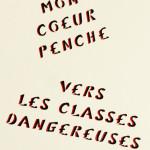 Galerie Art Jingle MISS.TIC Mon Coeur Penche Vers Les Classes Dangereuses (Réf. 4) 50 cm x 50 cm 2020 Détail 1