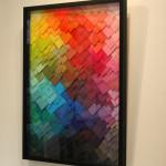 Galerie Art Jingle Maud Vantours Triangles #20 80 x 60 cm Encadrement Mur