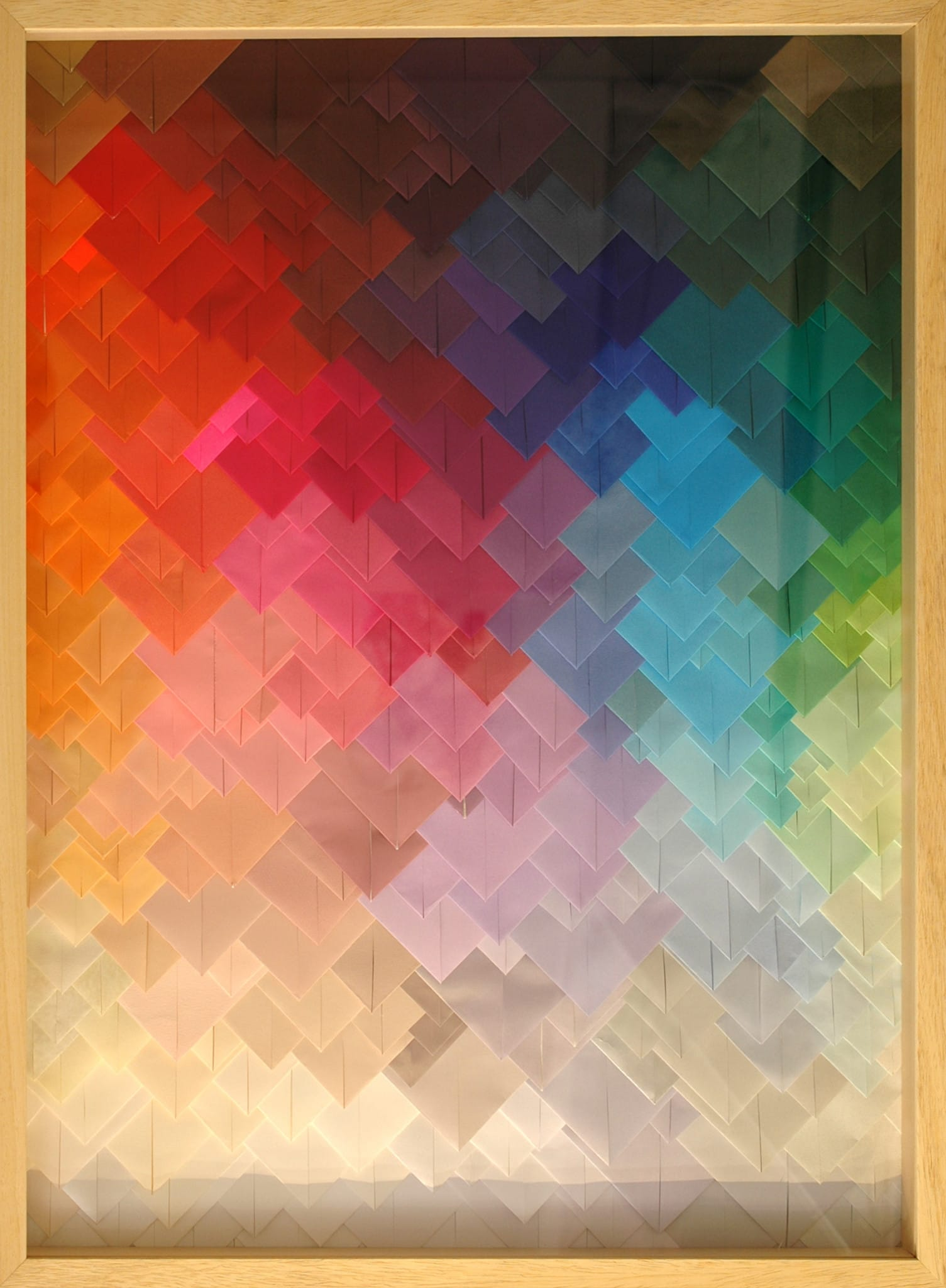 Galerie Art Jingle Maud Vantours Triangles #21 80 x 60 cm Encadrement