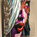Galerie Art Jingle ROD Black Cat 120 cm x 120 cm Encadrement Mur