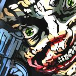 Galerie Art Jingle ROD Joker Gun 120 cm x 120 cm Détail 1