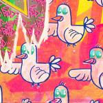 Galerie Art Jingle BAD CED INTERNATIONAL Los Angeles, 50 x 50 cm 2021 Détail 2