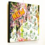 Galerie Art Jingle BAD CED INTERNATIONAL New York, 50 x 50 cm 2021 Mur