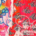 Galerie Art Jingle BAD CED INTERNATIONAM Lisboa, 50 x 50 cm 2021 Détail 2
