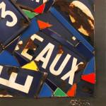Galerie Art Jingle COSTA Aix 21 km 90 x 90 cm 2021 Détail 1