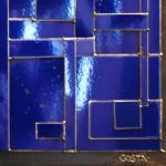Galerie Art Jingle COSTA Composition Bleu 90 x 90 cm 2021 Détail 1