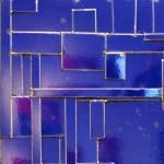 Galerie Art Jingle COSTA Composition Bleu 90 x 90 cm 2021 Détail 2