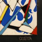 Galerie Art Jingle COSTA Le Coq Français 50 x 50 cm 2021 Détail 1