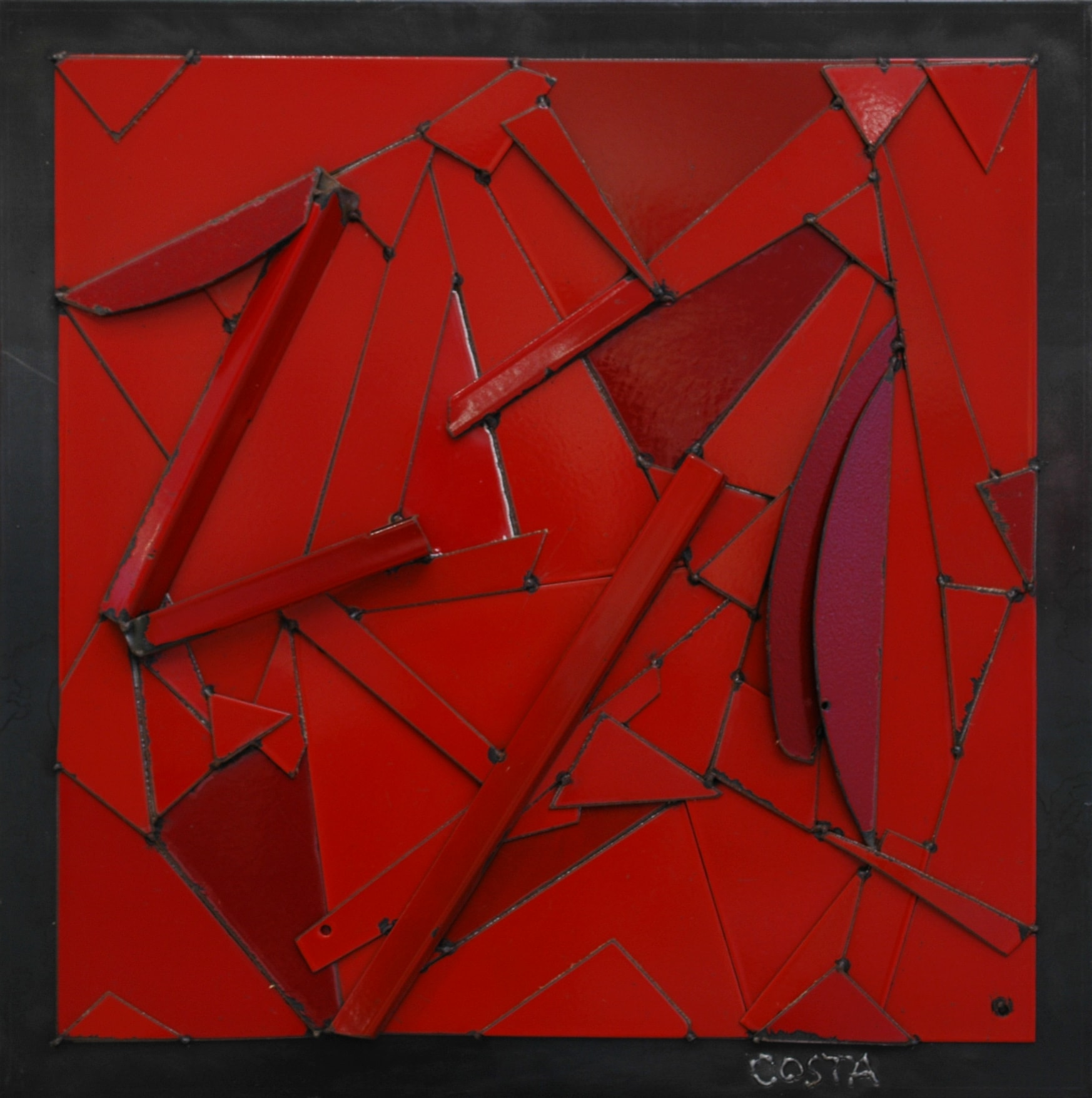 Galerie Art Jingle COSTA Monochrome Rouge 70 x 70 cm 2021